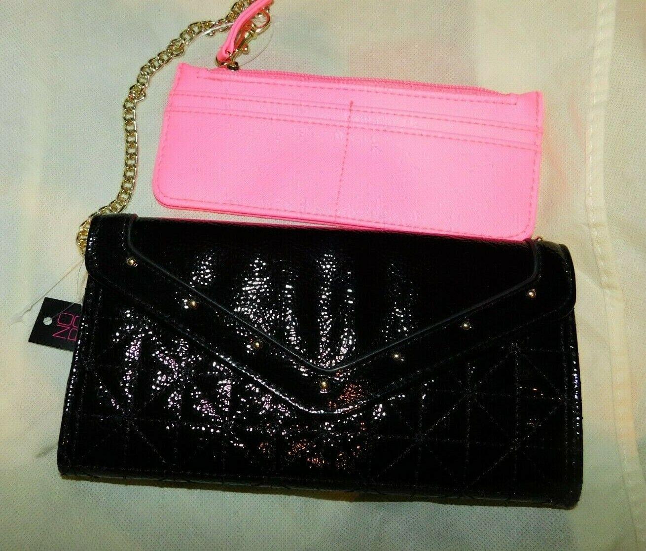 NEW Black & Hot Pink Wallet by No Boundaries