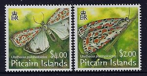 2007 PITCAIRN ISLANDS SALT & PEPPER MOTHS SET OF 2 FINE MINT MNH/MUH
