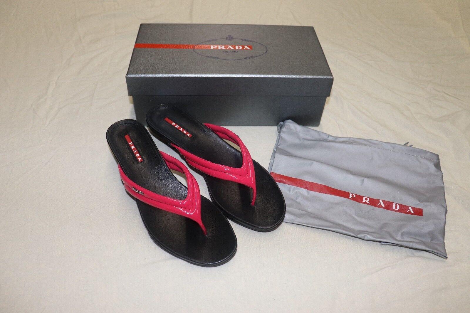 Prada Calzature women Fuxia sandals with a heel, Pink size 8.5