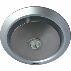 Martec gyro round ceiling exhaust fan led light bathroom silver mxflg25s ebay Round exhaust fans for bathroom