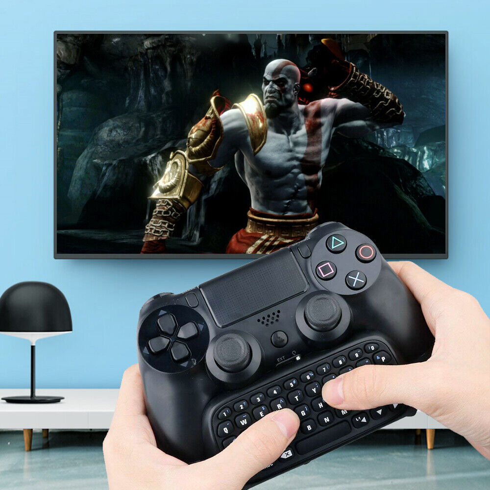 Bluetooth Wireless Keyboard Keypad for PS4 Play Station Controller Gamepad Chat