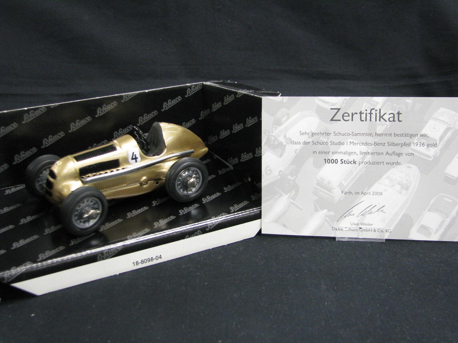 Schuco Studio l Mercedes-Benz Silberpfeil 1936 1 24 Gold  4 (JS)