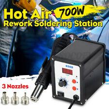 858d 110v 2 In 1 Soldering Station Bga Rework Smd Smt Welding Hot Air Nozzle