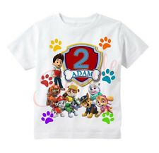 Item 1 Paw Patrol BADGE Custom T Shirt Personalize Tshirt Birthday Gift ADD NAME AGE