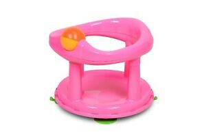 1st-Swivel-Pink-Bath-Seat-Best-Safety-Baby-Bathing-Rotating-Support-Chair-Shaped