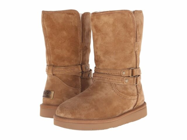 New Ugg Australia Palisade Women Suede Leather Boots Chestnut Size 5