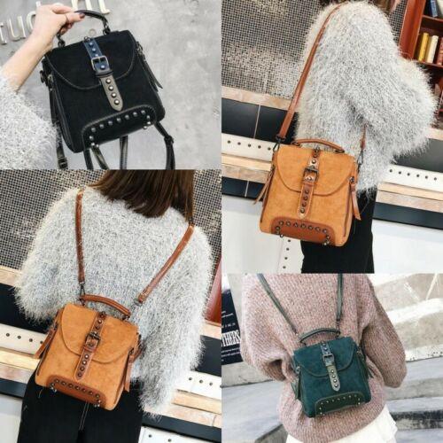 Retro Fashion Women Girls Backpack Rivet Studded Shoulder Bag Handbag Small New