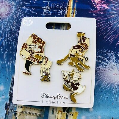 2020 Disney Parks Tower Of Terror Goofy Bellhop Pluto Donald 3 Pin Set New OE
