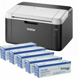 Brother HL-1212W Imprimante Laser Monochromée Wifi Avec 5 Toner TN1050