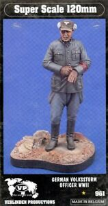 Verlinden-120mm-1-16-German-Volkssturm-Officer-WWII-Resin-Figure-Kit-961