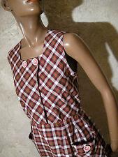 CHIC VINTAGE ROBE ANNEES 50 ZAZOU VTG DRESS 50s KLEID 50er ABITO RETRO (36/38)
