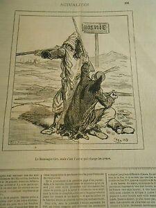 à Condition De Caricature 1878 - Le Bosniaque Tire Mais C'est L'autre Qui Charge Les Armes