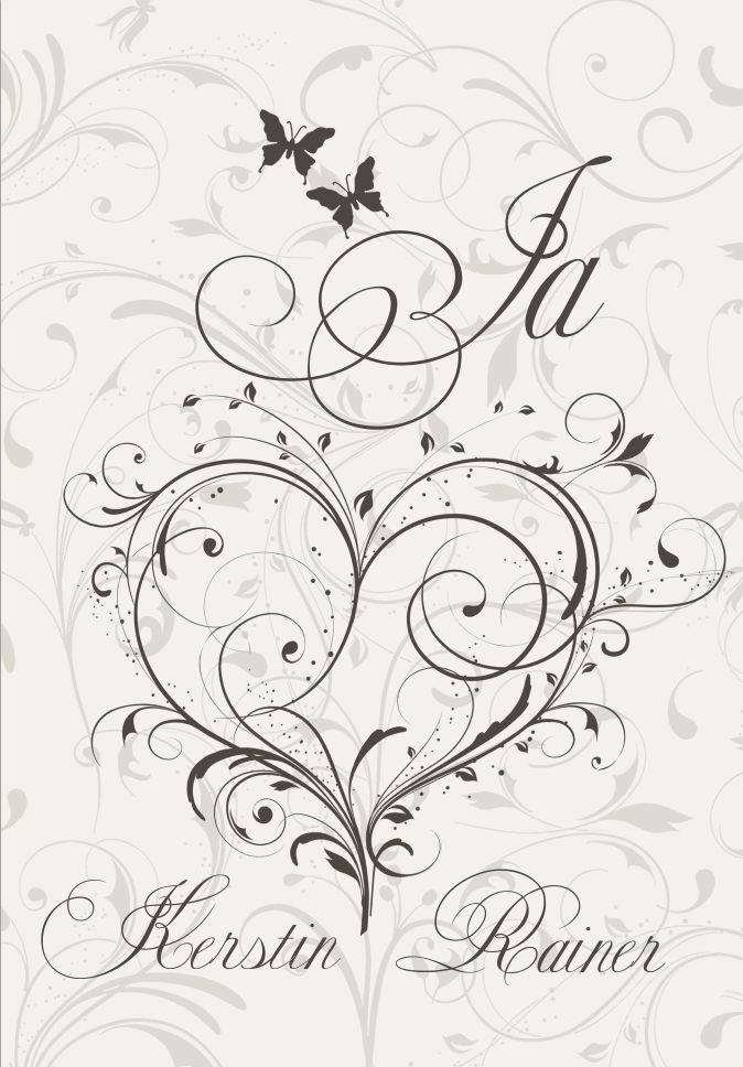 Personalisierte Einladungskarten Hochzeit, Klappkarten personalisiert – 25