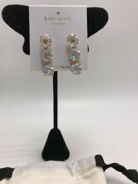 fc72f4808aabd Kate Spade NY Bright Ideas Triple Stone Linear Drop Earrings Wbruf821
