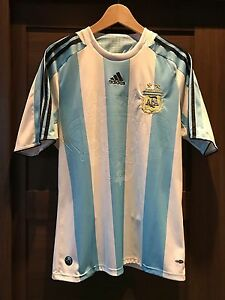 official photos 58348 78ed5 Details about Large AFA Argentina National Soccer Team Jersey - AUTHENTIC -  Adidas Climacool