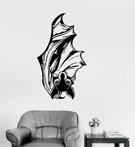 Image Is Loading Vinyl Wall Decal Bat Flittermouse Wings Animal Pet
