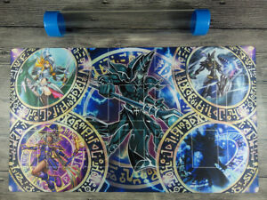 Details about Dark Magician Deck YuGiOh Rule 4 Card Link Zones TCG Playmat  Mat Free Best Tube