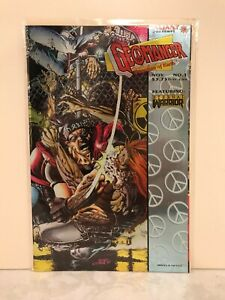 Geomancer #1 - 1994 - Valiant - etched chrome cover