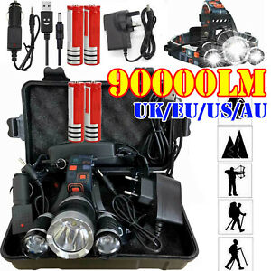 90000LM-T6-LED-Rechargeable-Headlamp-Headlight-Flashlight-Head-Torch-18650-Sets