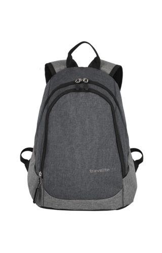 Travelite Basics Mini-Rucksack Anthrazit kleiner Reiserucksack Grau Meliert