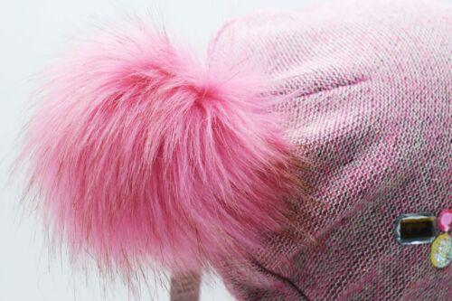 Da Donna Ragazze A Maglia Cappello Con Sciarpa Berretto Inverno Caldo Pelliccia Pom Bobble Sciarpa