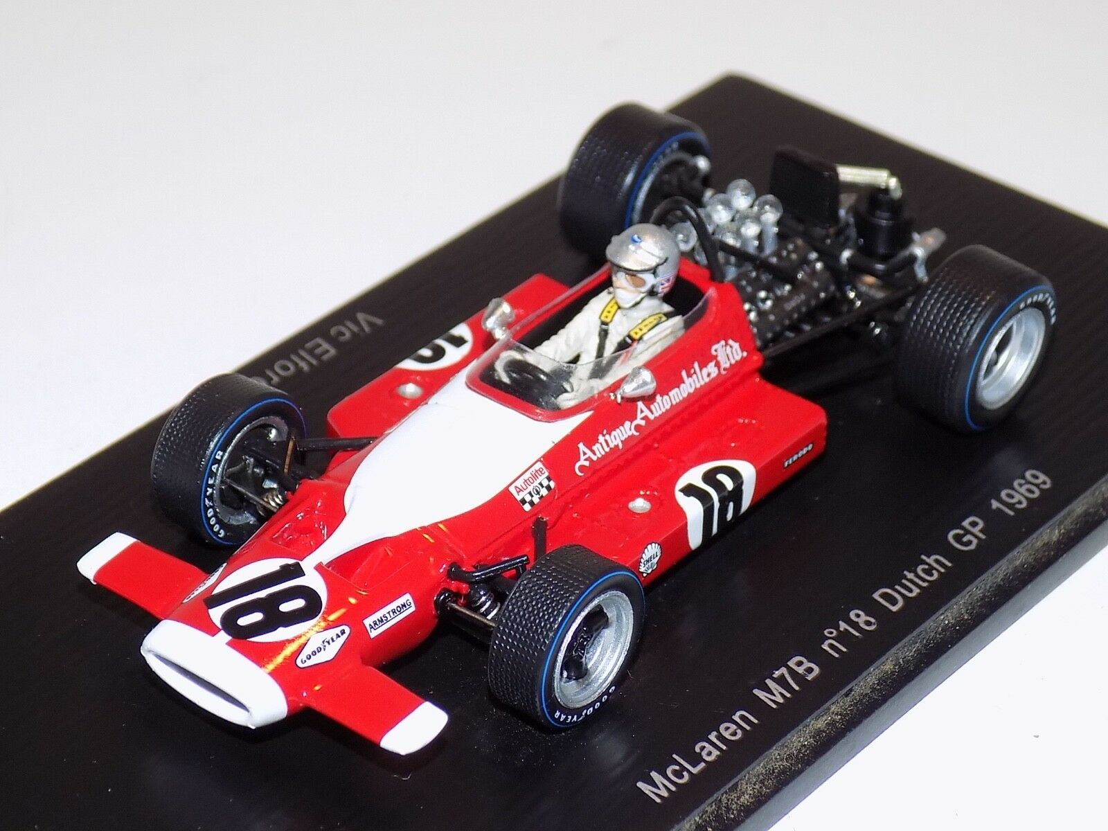 1 43 SPARK McLaren M7B voiture  18 1969 Dutch Grand Prix Vic Elford S3126