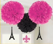 Paris Eiffel Tower Fluffy Hanging Birthday Party Decorations