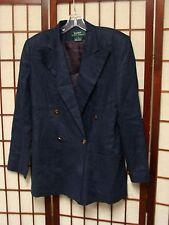 Ralph Lauren Jacket Blazer 4 Small S Linen Navy Crest Buttons Women's
