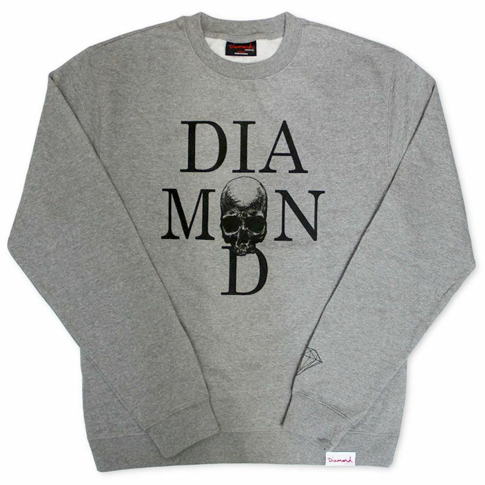Diamond Supply Co Skull Sweatshirt Grau