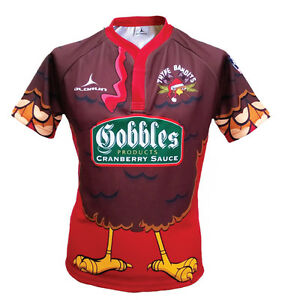 Christmas Jersey Design.Details About Olorun Thyme Bandits Rugby Shirt Christmas Jumper Design S 7xl