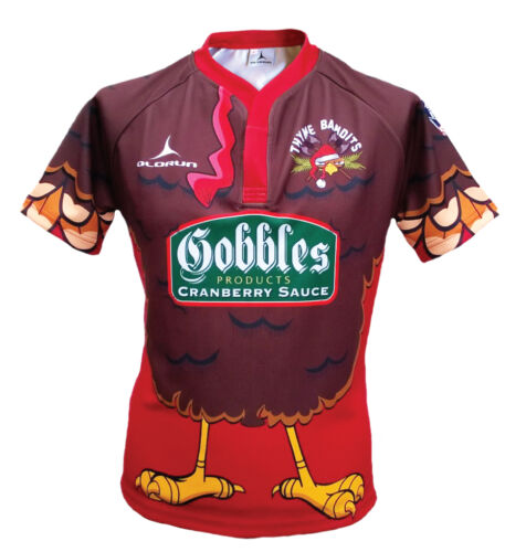 Olorun Thyme Bandits Rugby Shirt Christmas Jumper design S7XL