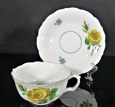 Meissen exklusive Teetasse /& Untere weiß Relief Wellenspiel 5 x verfügbar Top!