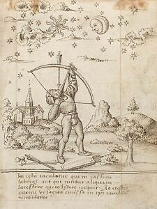FRENCH-EARLY-16TH-CENTURY-YOU-ARE-SHOOTING-HEAVEN-OLD-ART-PAINTING-PRINT-BB5386A