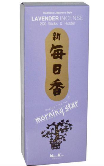 Morning Star Lavender Incense 200 Sticks & Holder NEW!