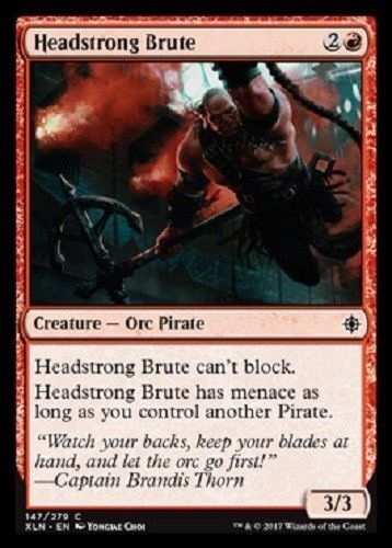 IXALAN COMMON  MINT PACK FRESH UNPLAYED 4 x Headstrong Brute