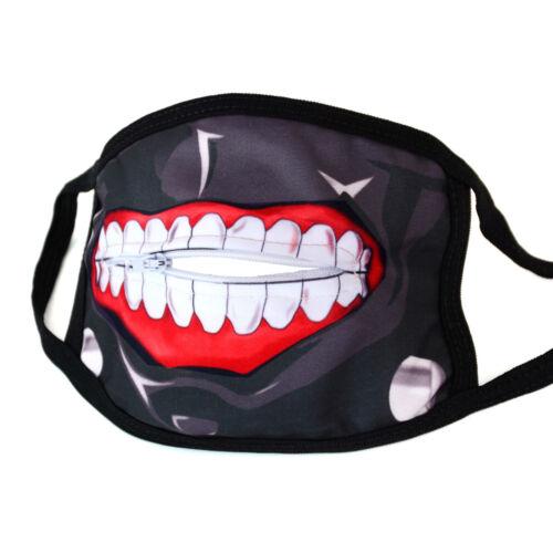 Máscara Tokyo Ghoul Ken Kaneki con cierre de cremallera boca máscara boca protección Halloween