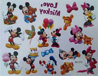 Temporary Tattoo MICKEY MOUSE & MINNIE Good Quality Great for Party Bags