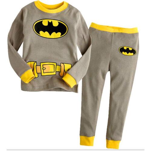 Toddler Kids Girl Boy Clothes T-Shirt Tops+Pants Nightwear Sleepwear Pajamas Set