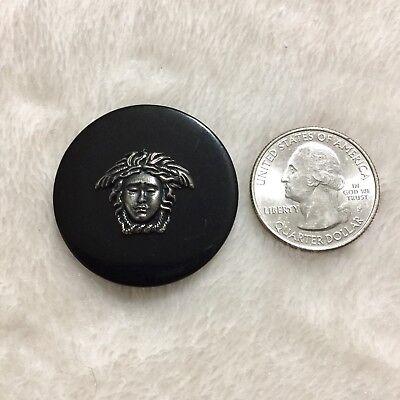 "33.88 mm 1 Versace Medusa Black//Antique Brass Button Vintage 1.334"" One"