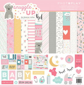 Scrapbooking Crafts Pp 12x12 Paper Pack Snuggle Up Baby Girl Koala