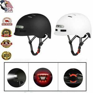 Ultralight Adult Bike Safety Helmet Cycling Bicycle USB Tail Light Black USA