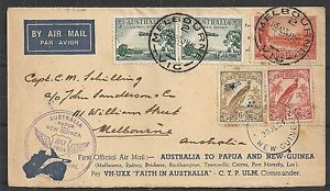 New Guinea covers 1934 Airmailcover Faith of Australia