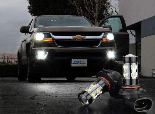 JDM TOP 2x 50W H10 9145 High Power LED CREE 6000K Super White Fog Lights Bulbs