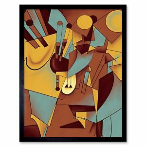 Details About Painting Digital Graphic Abstract Cubism Cubist 12x16 Inch Framed Art Print
