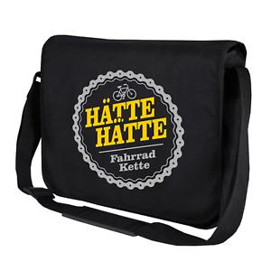 Haette-Haette-Fahrradkette-Fahrrad-Kette-Sprueche-Umhaengetasche-Messenger-Bag