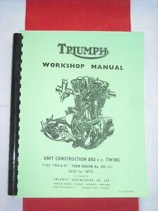 workshop manual fits 1963 triumph 650 bonneville trophy tiger t120 rh ebay com triumph spitfire shop manual download triumph trophy shop manual