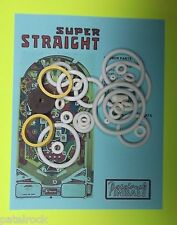 1977 Sonic Super Straight pinball rubber ring kit