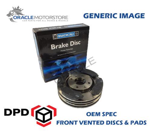 OEM SPEC FRONT DISCS PADS 296mm FOR NISSAN QASHQAI 1.5 TD 2006-14