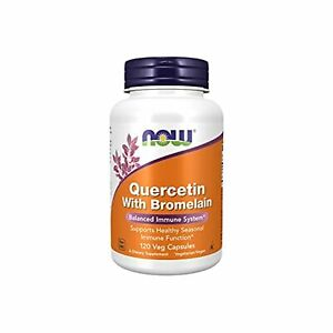 NOW Supplements Quercetin with Bromelain Balanced Immune System, Pineapple, 120