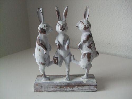 Ostern Hasenparade tanzende Häschen Kaninchen braun-weiss gewischt Optik süß